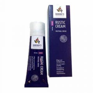 Rustic cream voor onderhoud van niet-blinkende leersoorten